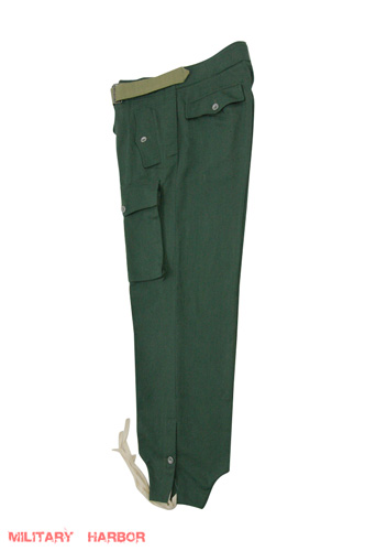 WWII German Heer panzer summer HBT off-white trousers S//32